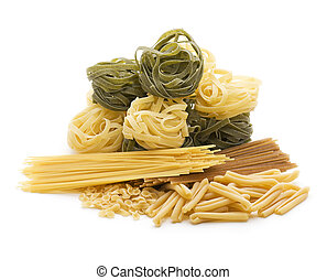Pasta - Italian mixed pasta collection isolated on white
