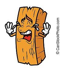 Cartoon Wood Log Crying