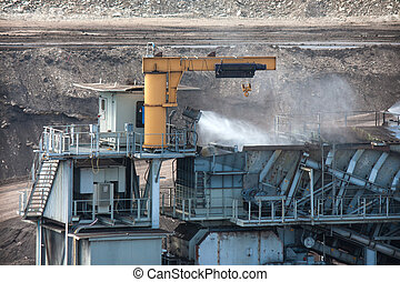 Water injection to minimize dust coal Industry
