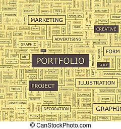 PORTFOLIO Word cloud concept illustration Wordcloud collage...