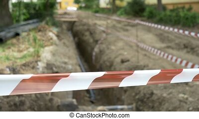 Pipeline Excavation Site - A construction site in the...