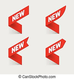 Sign New. Vector. - Sign New. New signs. Isolated vector...