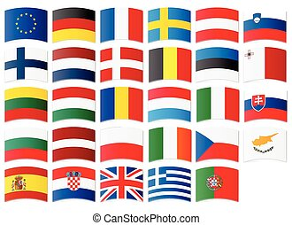 Icons of flags of the European Union