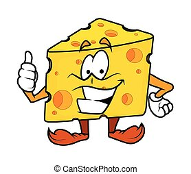 Motivating - Cartoon Cheese Vector Illustration