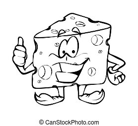 Thumbs Up - Cartoon Cheese Vector - Thumbs Up - Cartoon...
