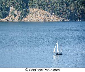 Sailing in Cowichan Bay-2