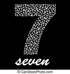 SEVEN. Usable for different design.