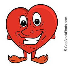 Smiling Funny Heart Vector