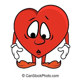 Sad Cartoon Heart
