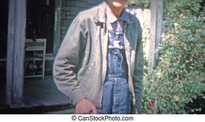 ARKANSAS, USA - 1966: Old time - Original vintage 8mm home...