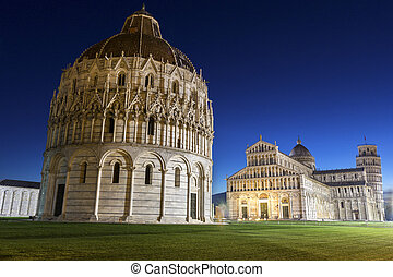Pisas Cathedral Square with the Tower of Pisa and the...
