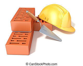 Safety helmet with bricks