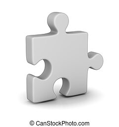Jigsaw Piece - 3d render