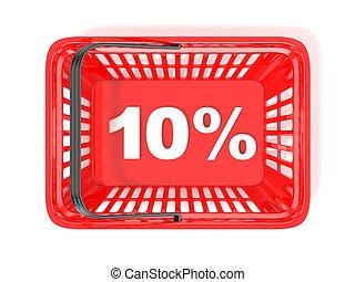 10 percent discount tag