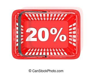 20 percent discount tag