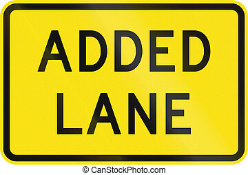 Added Lane in Australia - An Australian warning traffic sign...
