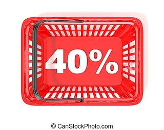 40 percent discount tag
