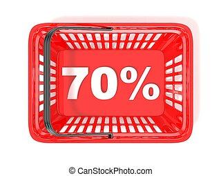 70 percent discount tag