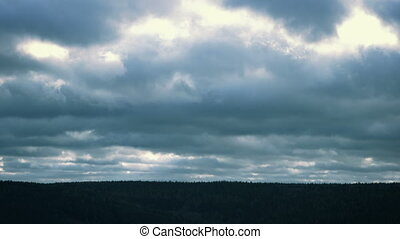 Fast Moving Clouds on a Stormy Day - Fast moving clouds on a...