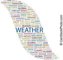 WEATHER Word cloud concept illustration Wordcloud collage