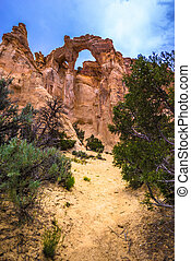 Grosvenor Arch sandstone double arch located within Grand...