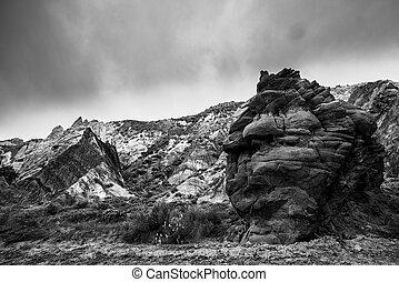 Black and White Landscape Utah Cottonwood Canyon Road...