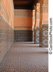 Passage - a fragment of the world famous Madrasa Bin Yusuf...