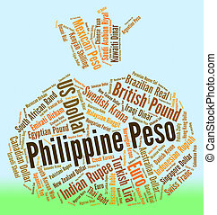 Philippine Peso Means Exchange Rate And Banknote