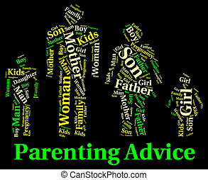 Parenting Advice Means Mother And Child And Recommendations...