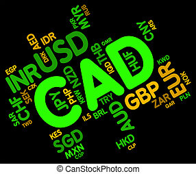 Cad Currency Indicates Exchange Rate And Broker - Cad...