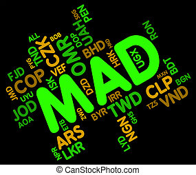 Mad Currency Represents Moroccan Dirhams And Banknotes - Mad...
