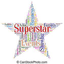 Superstar Word Means Hot Shot And Hero - Superstar Word...