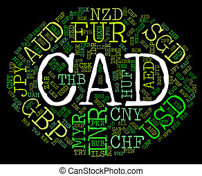 Cad Currency Represents Forex Trading And Coin - Cad...
