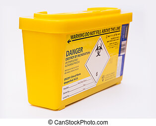 Medical sharps waste container - Medical or clinical sharps...