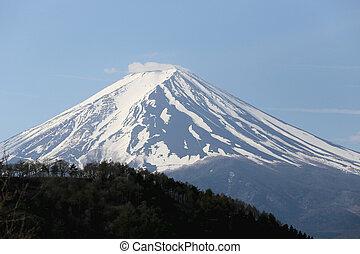 Mount Fuji from Kawaguchiko lake. - Mount Fuji from...