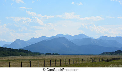 Between Calgary and Banff-2 - Prairies and mountains meet on...