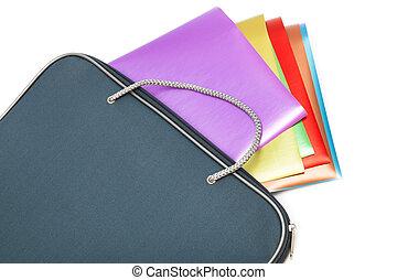 文件夾, 紙, 上色