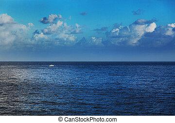 boat in calm sea