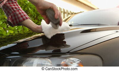 Car Care - Applying polish and polishing