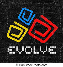 Evolve color - Creative design of Evolve color