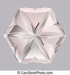 Gray pink shiny precious crystal