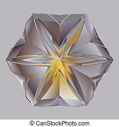 Golden grey shiny precious crystal