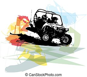 Quad bike illustration