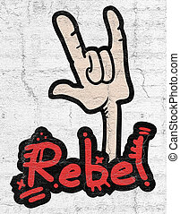 Rebel gesture - Creative design of Rebel gesture