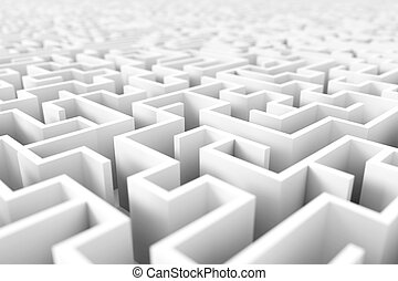 Endless maze background