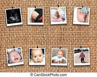 photos of baby from Medical ultrasonography to teen on the...