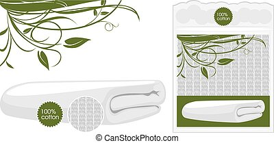 Cotton waffle towel. Vector illustration