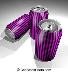 magenta cans - Creative design of magenta cans