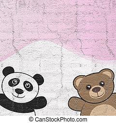 pareja, oso,