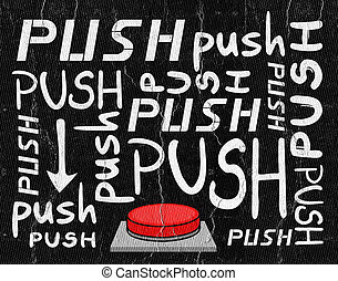 Push button message - Creative design of Push button message
